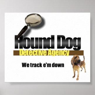 Agencia detective del perro de caza póster