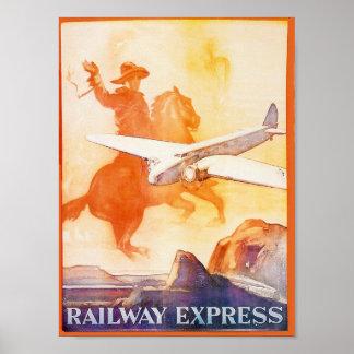 Agencia expresa 1935 del ferrocarril póster