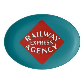 Agencia expresa del ferrocarril badeja de porcelana