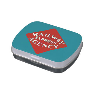 Agencia expresa del ferrocarril latas de dulces