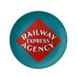 Agencia expresa del ferrocarril plato de cerámica