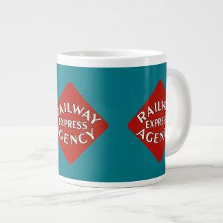 Agencia expresa del ferrocarril taza de café grande
