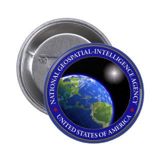 Agencia nacional de la Geospatial-Inteligencia Pin Redondo De 2 Pulgadas