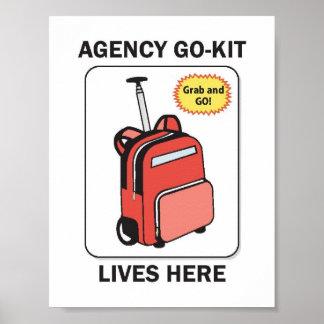 Agency Go-Kit Lives Here Poster
