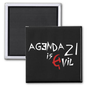 Agenda 21 is Evil Red Hammer Sickle Magnet