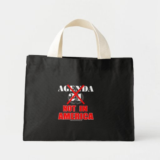 Agenda 21 - Not in America Canvas Bags