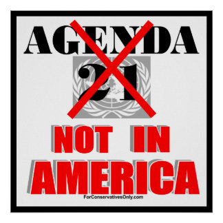 Agenda 21 - Not in America Poster