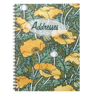 Agenda amarilla del ~ de la amapola cuaderno