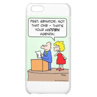 agenda oculta del senador