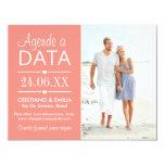 """Agende a Data Foto Cartão    Cores Rosa e Branco Invitación 4.25"""" X 5.5"""""""