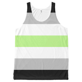 Agender Pride Flag All-Over Print Tank Top