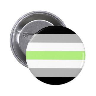 agender pride flag badge pinback button