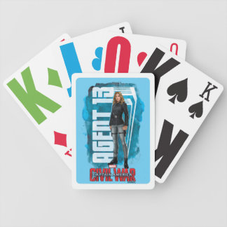 Agent 13 Character Graphic With Watercolor Bicycle Playing Cards
