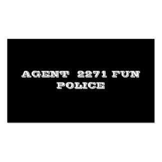 AGENT  2271 FUN POLICE Double-Sided STANDARD BUSINESS CARDS (Pack OF 100)