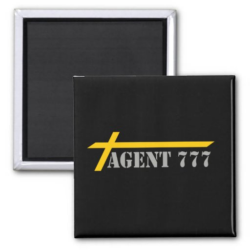 Agent 777 Yellow Cross-country races Gray MELTS BL Refrigerator Magnet