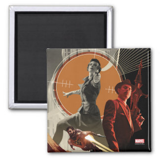 Agent Carter And Howard Stark Collage Magnet