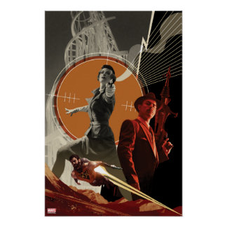 Agent Carter And Howard Stark Collage Poster