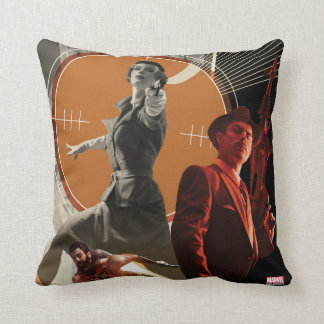 Agent Carter And Howard Stark Collage Throw Pillow