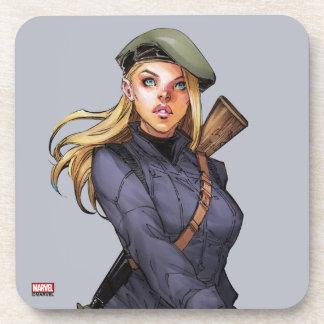 Agent Carter In Uniform Beverage Coaster
