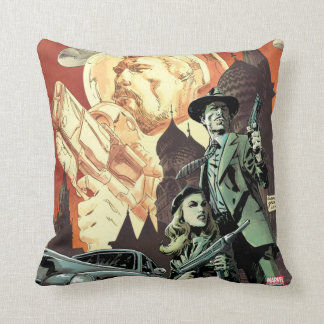 Agent Carter With Howard Stark Throw Pillow