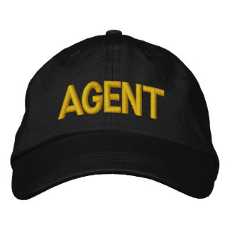 Agent Embroidered Baseball Cap