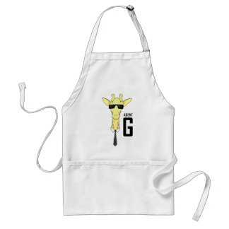 Agent G for Giraffe Adult Apron