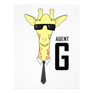 Agent G for Giraffe Personalized Letterhead