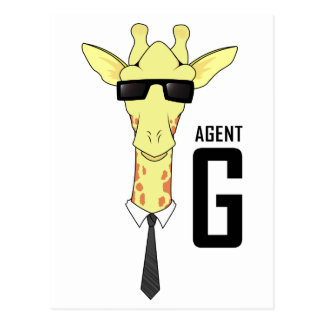 Agent G for Giraffe Postcard