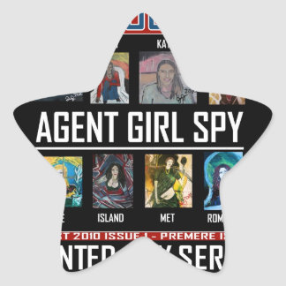 AGENT GIRL SPY STAR STICKER