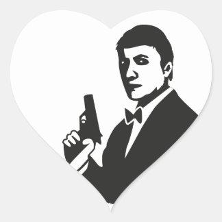 Agent Heart Sticker
