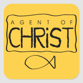 Agent of Christ Sticker