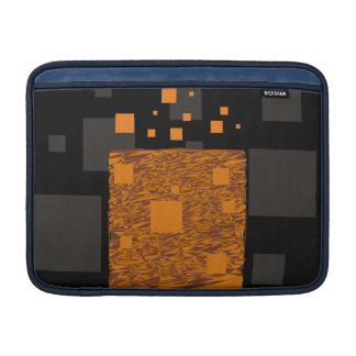 Agent Orange alert float abstract art mesh brown MacBook Air Sleeve