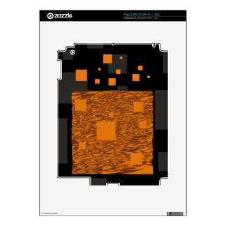 Agent Orange alert float abstract art mesh brown Skins For The iPad 2