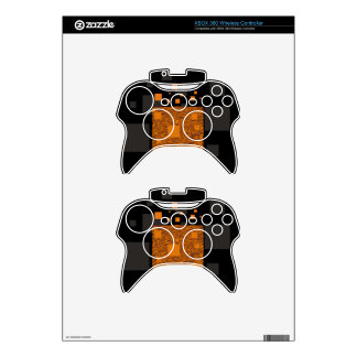 Agent Orange alert float abstract art mesh brown Xbox 360 Controller Decal