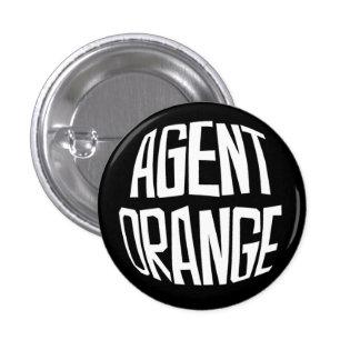 """Agent Orange """"Fisheye"""" Logo Punk Button"""