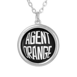 "Agent Orange ""Fisheye"" Logo Skate Punk Necklace"