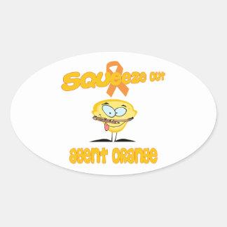 Agent Orange Oval Sticker