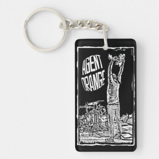 "Agent Orange ""Overhead"" Keychain 2-Sided Punk Surf"