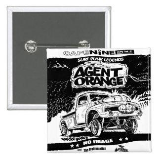 "Agent Orange ""Rat Rod"" Punk Button - Square"