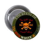 Agent Orange - Skull and Crossed Bones 2 Inch Round Button
