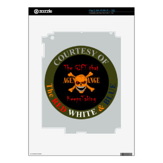 Agent Orange - Skull and Crossed Bones Decal For The iPad 2