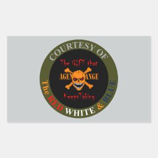Agent Orange - Skull and Crossed Bones Rectangular Sticker