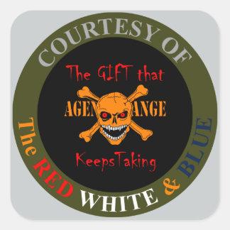 Agent Orange - Skull and Crossed Bones Square Sticker