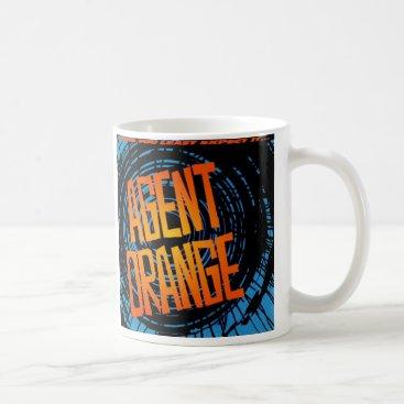 "Coffee Themed Agent Orange ""SpinArt"" Logo Coffee Mug Skate Punk"