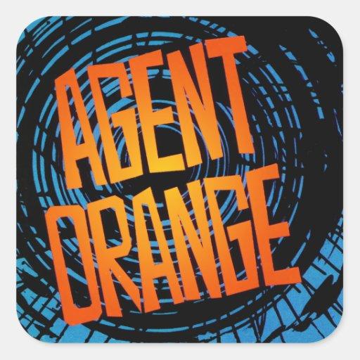"""Agent Orange """"SpinArt"""" Stickers Skate Punk Rock"""