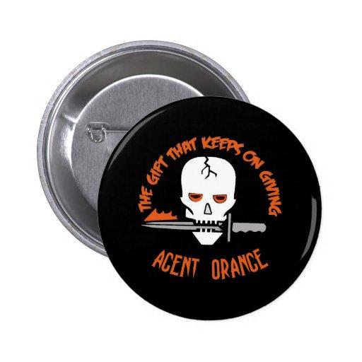 Agent Orange The Gift DARK 2 Inch Round Button