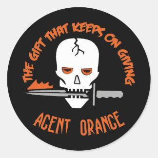 Agent Orange The Gift DARK Classic Round Sticker