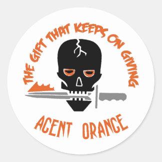 Agent Orange The Gift LIGHT Classic Round Sticker