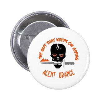 Agent Orange The Gift LIGHT Pinback Button