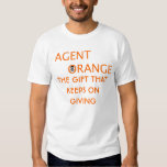 agent orange THE GIFT THATKEEPS ON GIVING Shirt